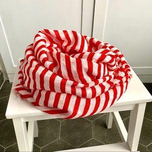 H&M Striped Linen Blend Scarf